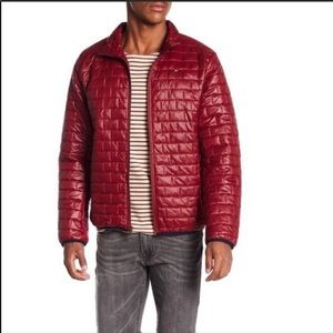 NWT Tommy Hilfiger Red Quilted Puffer Jacket Top L
